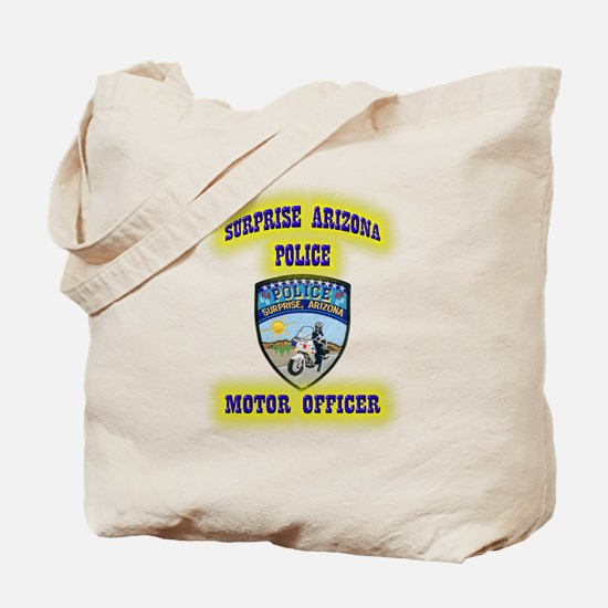 Surprise Police Motors Tote Bag