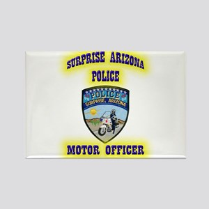Surprise Police Motors Rectangle Magnet