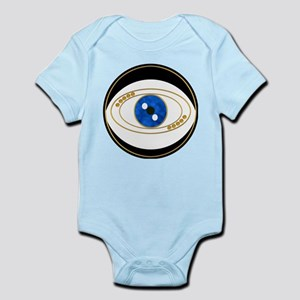 Black Evil Eye with Golden Accents Body Suit