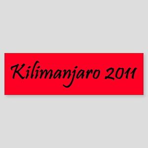 Kilimanjaro 2011 Sticker (Bumper)
