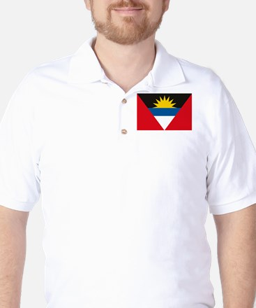 Antigua and Barbuda Flag Golf Shirt