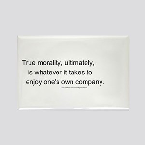 """True Morality"" Rectangle Magnet"