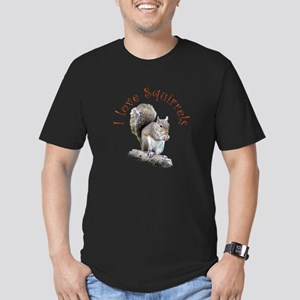 Squirrel Men's Fitted T-Shirt (dark)
