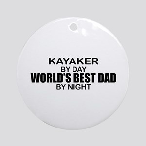 World's Greatest Dad - Kayaker Ornament (Round)