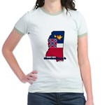 ILY Mississippi Jr. Ringer T-Shirt
