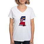 ILY Mississippi Women's V-Neck T-Shirt