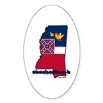 ILY Mississippi Sticker (Oval 10 pk)