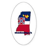 ILY Mississippi Sticker (Oval 50 pk)