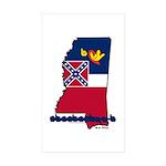 ILY Mississippi Sticker (Rectangle 10 pk)