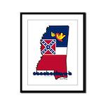 ILY Mississippi Framed Panel Print