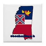 ILY Mississippi Tile Coaster