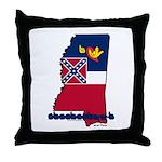 ILY Mississippi Throw Pillow