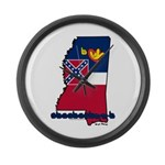 ILY Mississippi Large Wall Clock