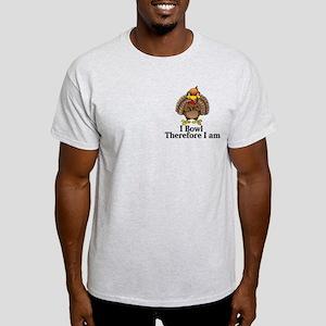 I Bowl Therefor I Am Logo 13 Light T-Shirt Design