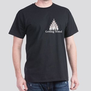 Getting Wood Logo 9 Dark T-Shirt Design Front Pock