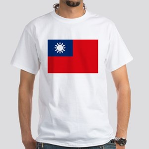 Taiwan Flag White T-Shirt