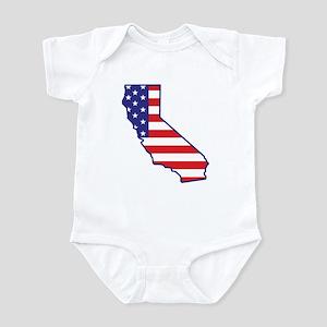 CA USA Flag Map 1 Infant Bodysuit