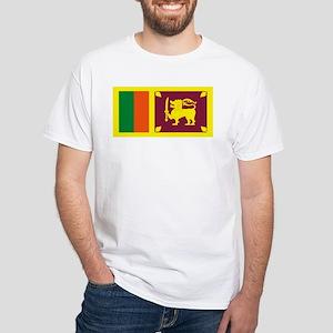 Sri Lanka Flag White T-Shirt