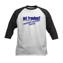 Got Freedom? Navy Kids Baseball Jersey