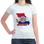 ILY Missouri Jr. Ringer T-Shirt