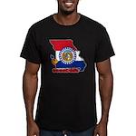 ILY Missouri Men's Fitted T-Shirt (dark)