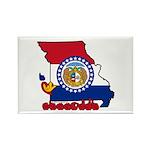 ILY Missouri Rectangle Magnet (100 pack)