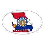 ILY Missouri Sticker (Oval 10 pk)