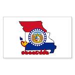ILY Missouri Sticker (Rectangle 50 pk)
