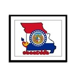 ILY Missouri Framed Panel Print