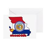 ILY Missouri Greeting Cards (Pk of 20)