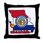 ILY Missouri Throw Pillow