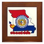 ILY Missouri Framed Tile