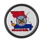 ILY Missouri Large Wall Clock