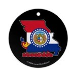ILY Missouri Ornament (Round)