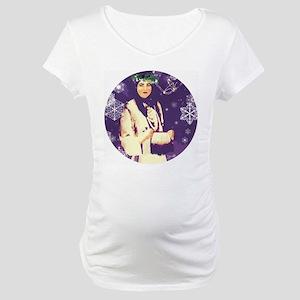 White Buffalo Calf Woman Maternity T-Shirt