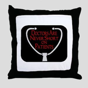 Doctors Patients Throw Pillow