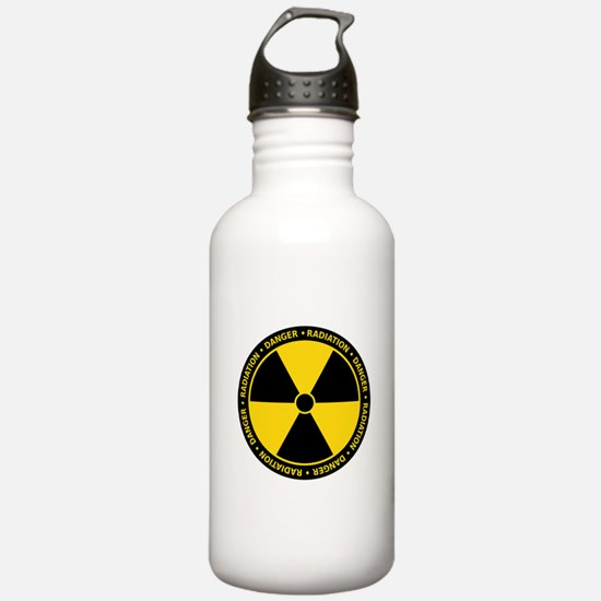 Radiation Warning Sports Water Bottle