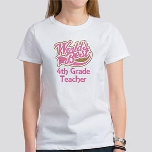 Worlds Best 4th Grade Teacher Women's T-Shirt