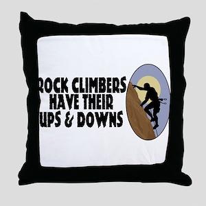 Rock Climbers Throw Pillow