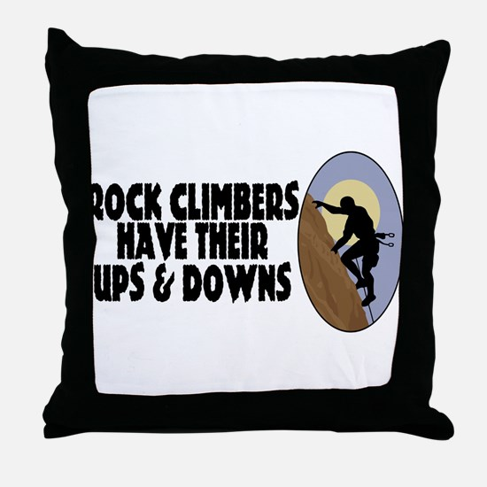 Rock Climbers Throw Pillow