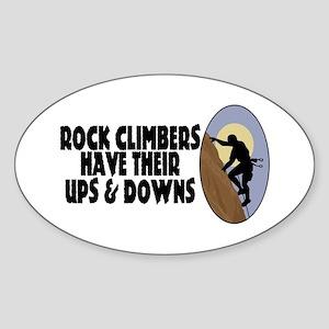 Rock Climbers Sticker (Oval)