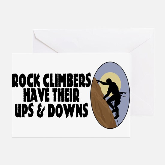 Rock Climbers Greeting Card