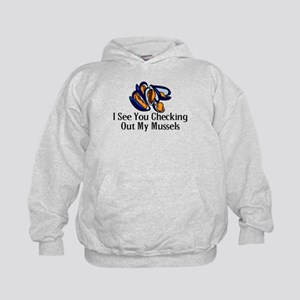Checking Out Mussels Kids Hoodie