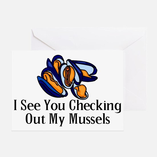 Checking Out Mussels Greeting Card