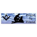 Masonic Friend to Friend Bumper Sticker