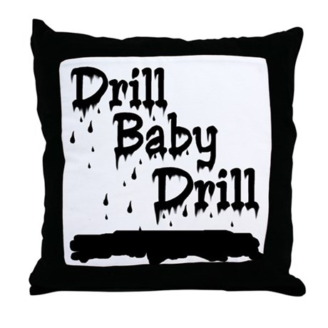 drill baby...ooops Throw Pillow
