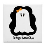 Daddy's Little Ghoul Tile Coaster