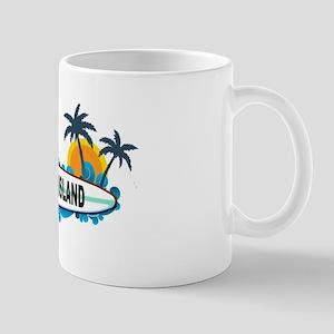 Topsail Island NC - Surf Design Mug
