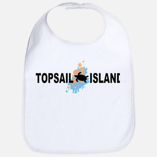 Topsail Island NC - Seashells Design Bib