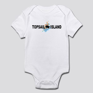 Topsail Island NC - Seashells Design Infant Bodysu